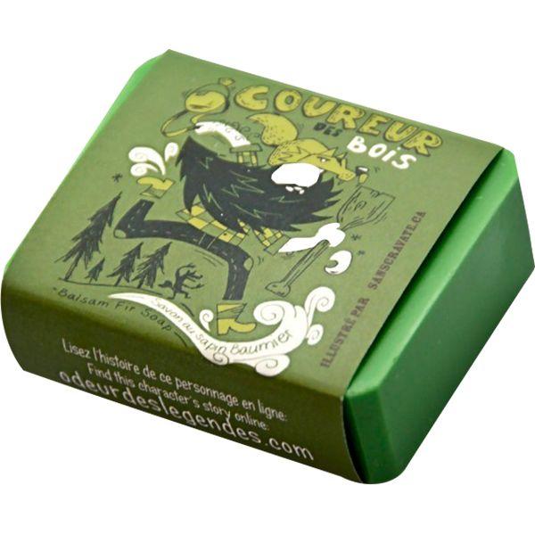Savon à la fragrance de sapin baumier.  Tonique de l'humeur, son huile essentielle est distillée dans les Cantons-de-l'Est.  Ingrédients : Huile d'olive, eau, ...
