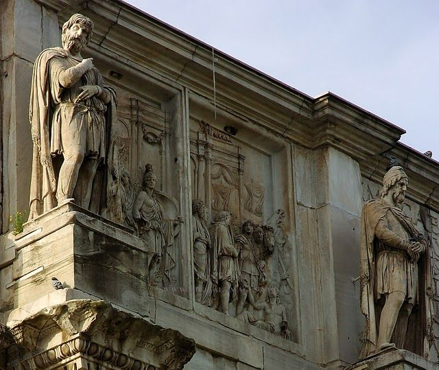 statue of  noble Dacians at Rome, Italy