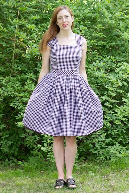 gingham cambie dress