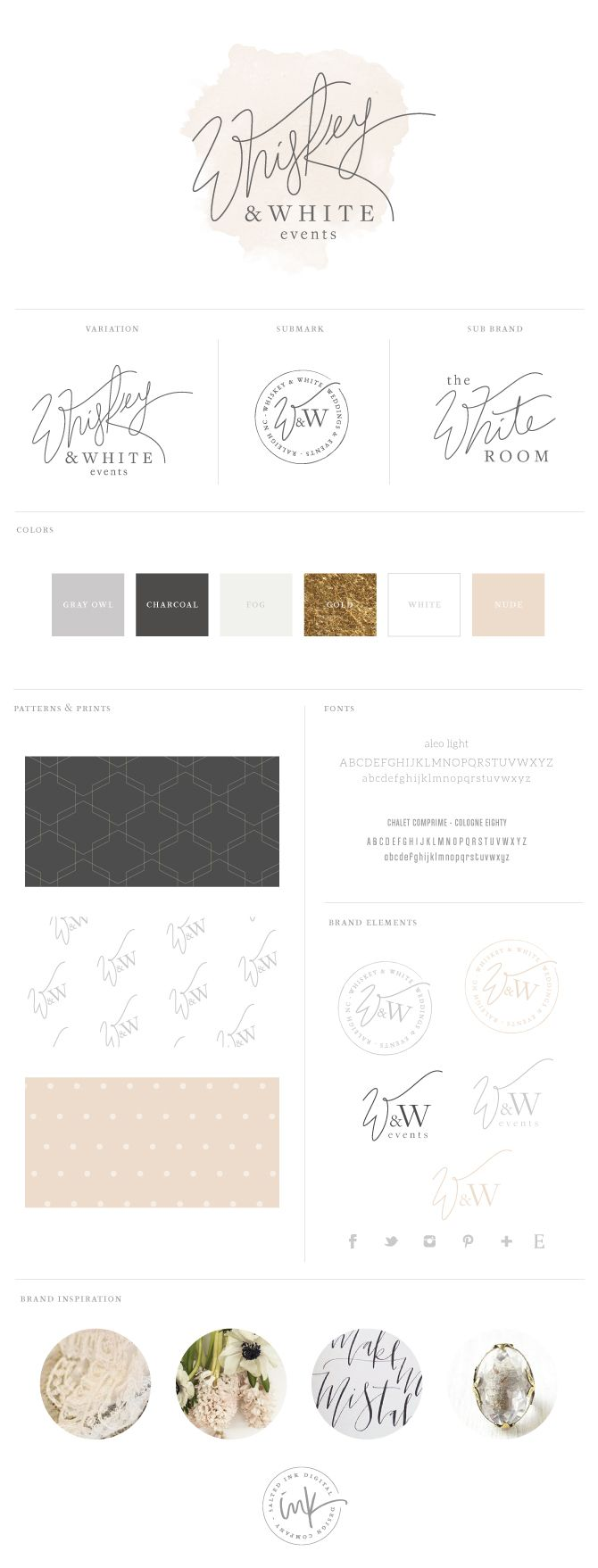 Whiskey U0026 White Events   Wedding Planner Brand And WordPress Website Design  By Salted Ink