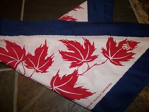 Vintage Canadian Girl Guide scarf, circa 1970s
