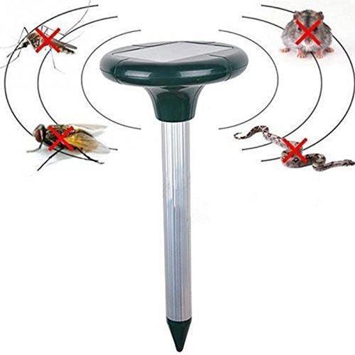 Solar Power Ultrasonic Gopher Mole Snake cat bird mosquito Mouse ultrasonic Pest Repeller Control Garden Yard -Pier 27