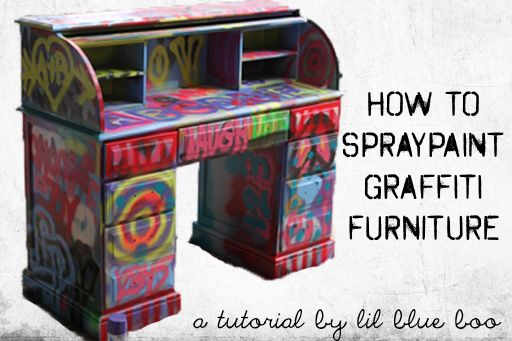 spraypaintutorial -  Graffiti Furniture how fun for the boys' room!
