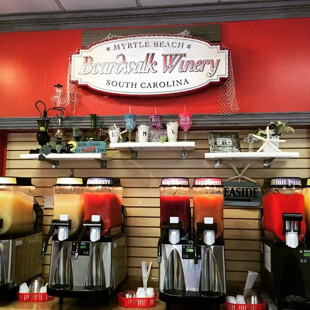 When it's adults-only time - enjoy a little wine tasting at Boardwalk Winery, located at Broadway at the Beach!   (Photo via Instagram by @jessshives - click on the pin when you are ready to see other things to do in Myrtle Beach, South Carolina)