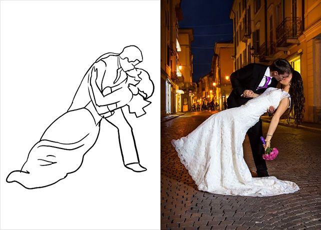 20 лучших поз для свадебной фотосессии, жених наклоняет невесту