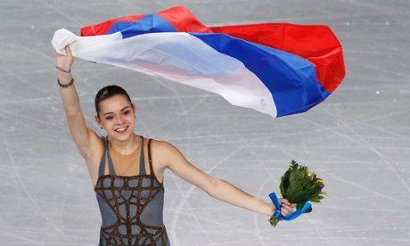 Adelina Sotnikova Sochi 2014 - Grey Figure Skating / Ice Skating dress inspiration for Sk8 Gr8 Designs.
