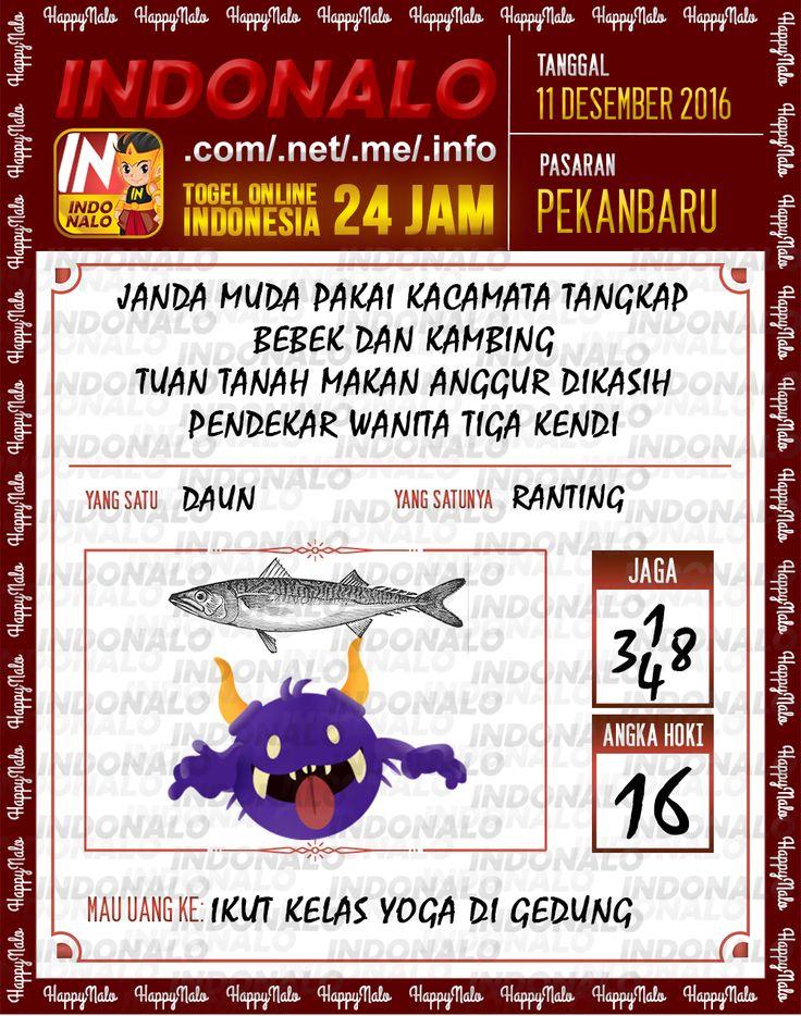 Lotre Kop 4D Togel Wap Online Live Draw 4D Indonalo Pekanbaru 11 Desember 2016