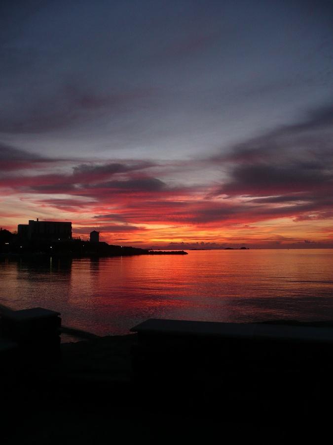 Red as the sun  Paros, Greece