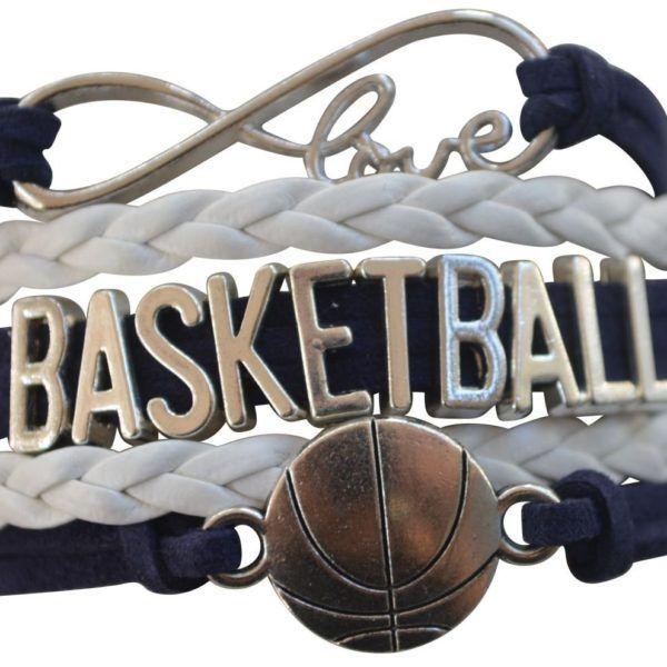 Girls Basketball Infinity Bracelet Jewelry Gift