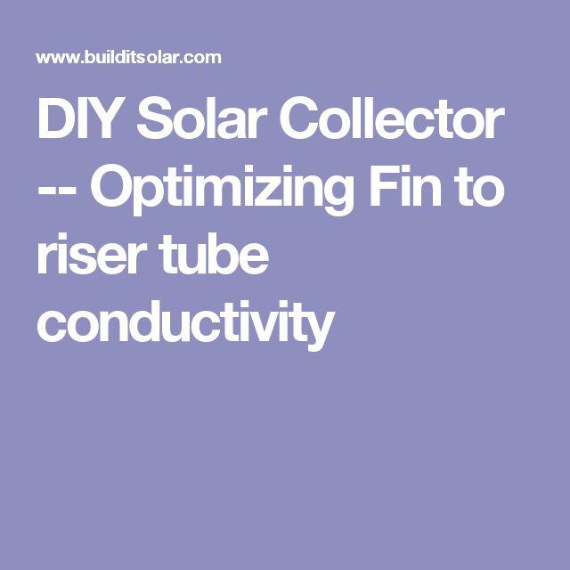 DIY Solar Collector -- Optimizing Fin to riser tube conductivity