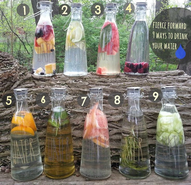 9 Ways to Infuse your Water  1. Fruit Medley  2. Citrus Blend  3. Watermelon and Basil    4. Berry blend   5. Orange  6. Green tea and mint  7. Grapefruit  8. Rosemary infused  9. Cucumber    #healthy #water #summertreat  facebook.com/fierceforward