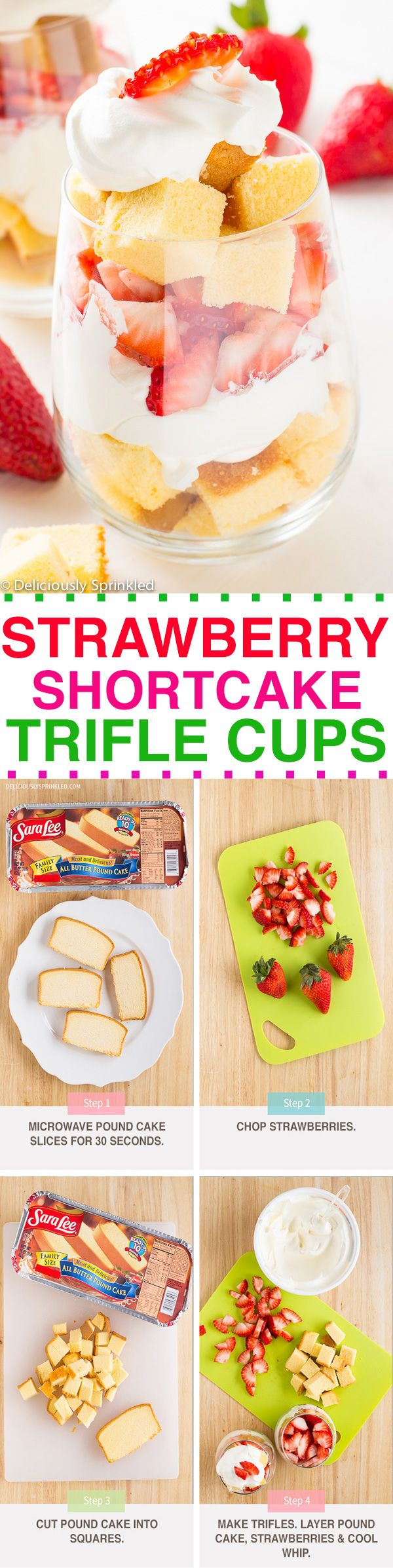 EASY TO MAKE: Strawberry Shortcake Trifle Cups