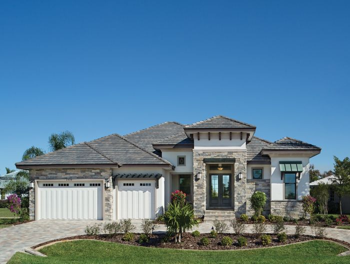 Punta Gorda Luxury Designer Home Visually Interesting Exterior