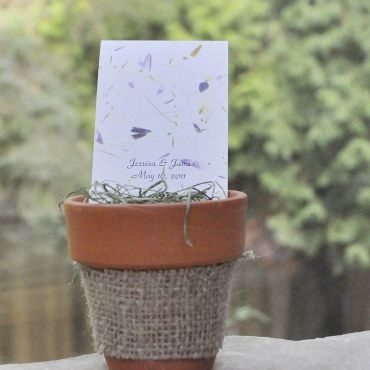 periwinkle blue wedding favors - Plant a Memory Wedding Favors & Gifts