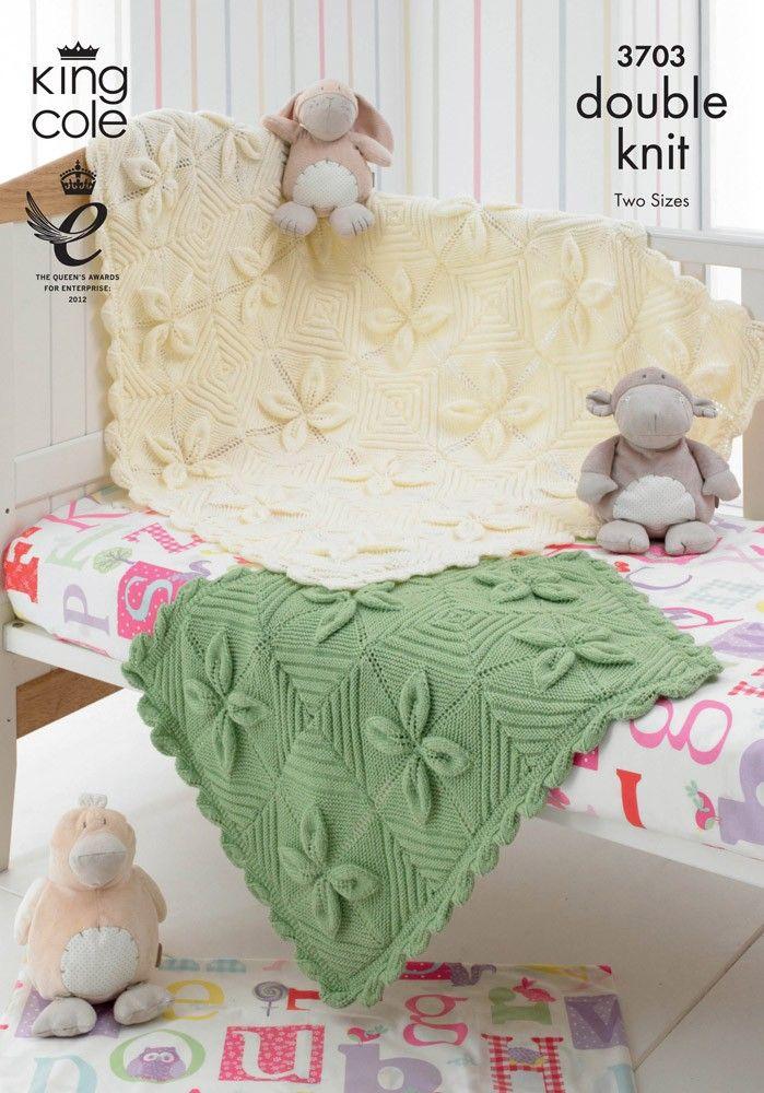 Blanket in King Cole DK - 3703 | Easy Knitting/Crochet | Pinterest