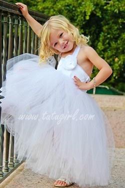 Flower Girl White Tutu Dress
