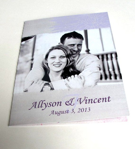 Grey & Lilac Wedding Invitations with tear off RSVP cards by gwenmariedesigns on Etsy, $3.00