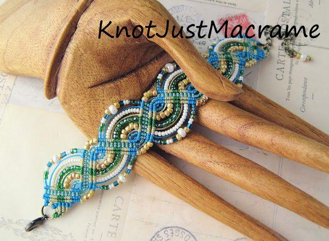 Beaded macrame bracelet tutorial by Sherri Stokey of Knot Just Macrame