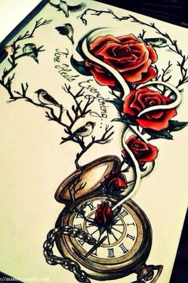 Time Heals Everthing ❤ My future Tattoo!
