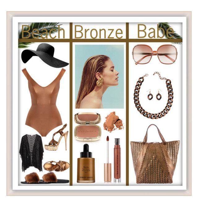 """Beach Bronze 🐚🌴"" by miss-sagittarius ❤ liked on Polyvore featuring Bottega Veneta, Dolce&Gabbana, Kevyn Aucoin, Givenchy, Zimmermann, Casadei, Chloé, Giorgio Armani and Bobbi Brown Cosmetics"