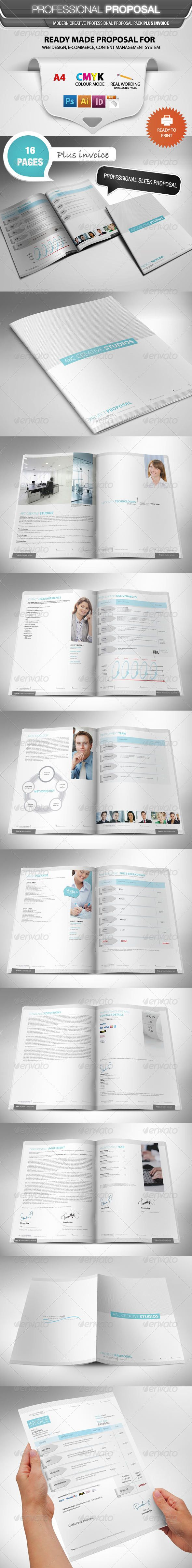 Professional Proposal Template - Proposals & Invoices Stationery
