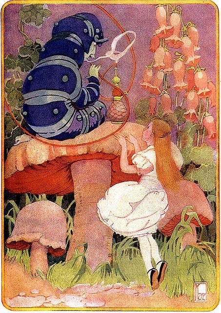 Vintage Alice Illustration–Lovely Bell Flowers–Gertrude Kay, via finsbry