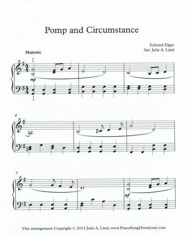 268 best piano lessons images on pinterest sheet music music pomp and circumstance sheet music graduation music graduation song free printable piano sheet fandeluxe Images
