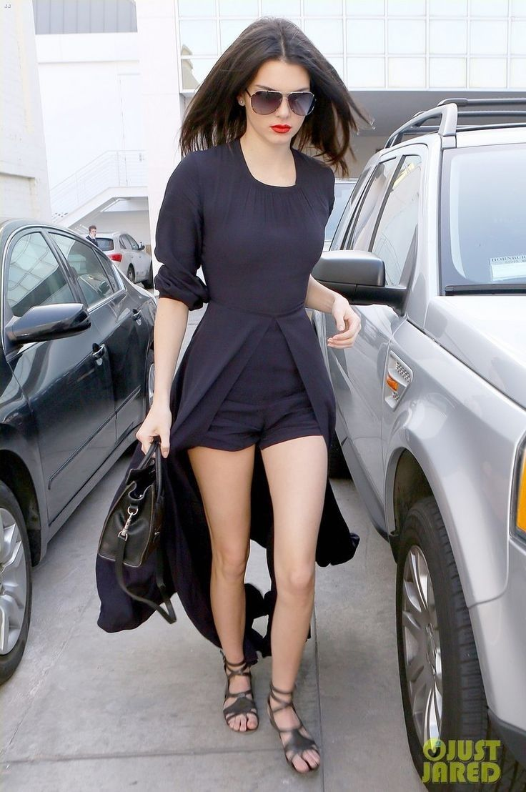 Kendall.. Sass & Bide Hours of Trade Short Jumpsuit, Balenciaga Leather Sandals, and Celine Nano Bag..... - Celebrity Fashion Trends