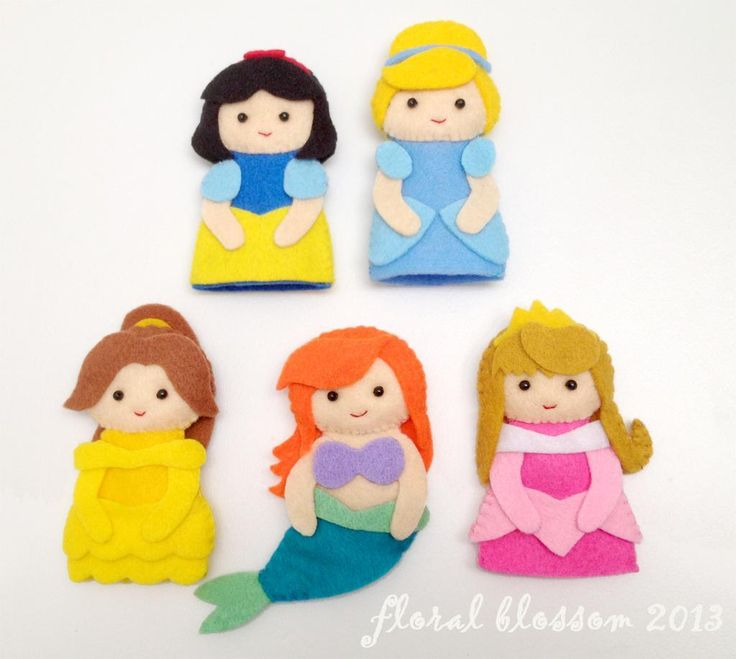 Sewing: Disney Princess Felt Finger Puppets