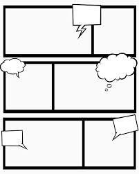 cartoon strips template