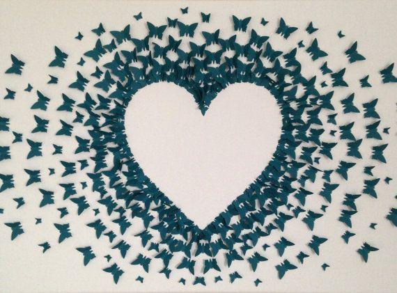 Design: Schmetterling Blau Bestickt zum Aufb/ügeln oder Aufn/ähen ZEGIN Aufn/äher