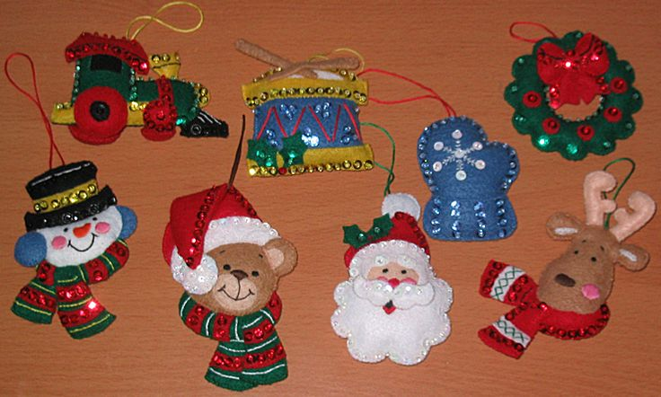 85 Best Crafts Felt Christmas Ornaments Images On