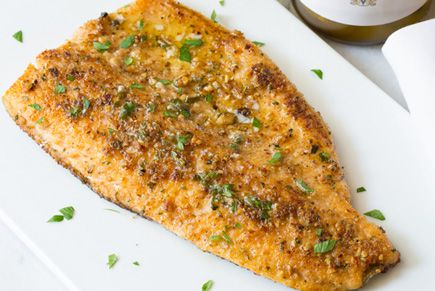 Pecan Crusted Trout (or any other fish, Tilapia?) with Meuniere Butter, via Biltmore Estate