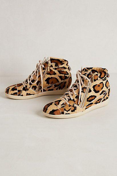 Calf Hair Hidden - Wedge Sneakers. Color: Neutral Motif #Anthropologie #Want