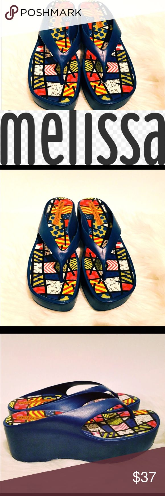 Melissa Platform Sandals Size 8 Excellent preowned condition 😊 no signs of wear  Clean from a smoke & pet free home Original from Brazil Melissa Shoes Sandals
