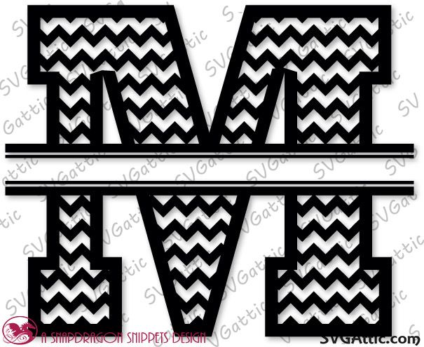 Sds Chevron Split Monogram M Flockfolie Letters