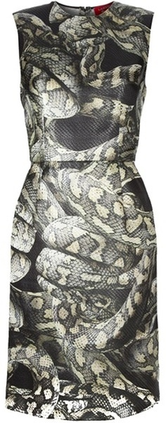 For whatever reason--probably because this is a little scary--I find this dress very sexy. Snake Print Dress   The House of Beccaria#
