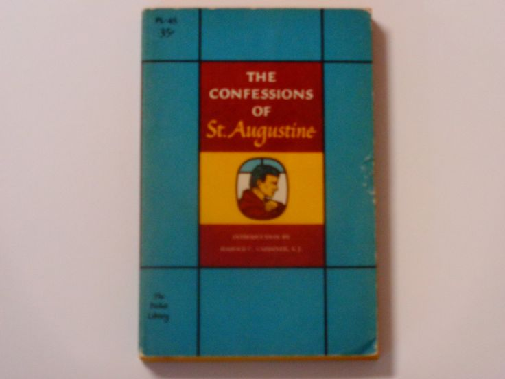 The Confessions of St Augustine - Spiritual Literature - The Pocket Library 1958 - Antique Paperback Book - Catholic Book by notesfromtheattic on Etsy