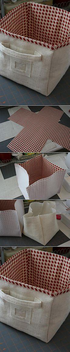 (+1) - Корзина из ткани | СВОИМИ РУКАМИ