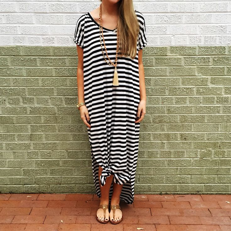 Striped maxi for summer
