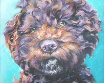 arte portugués perro de agua Español impresión lona por TheDogLover