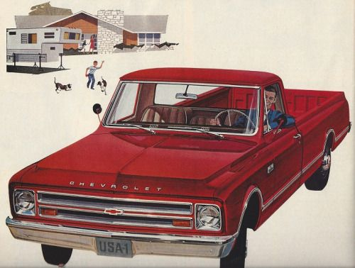 LOOK magazine Chevy truck ad - March 7,1967