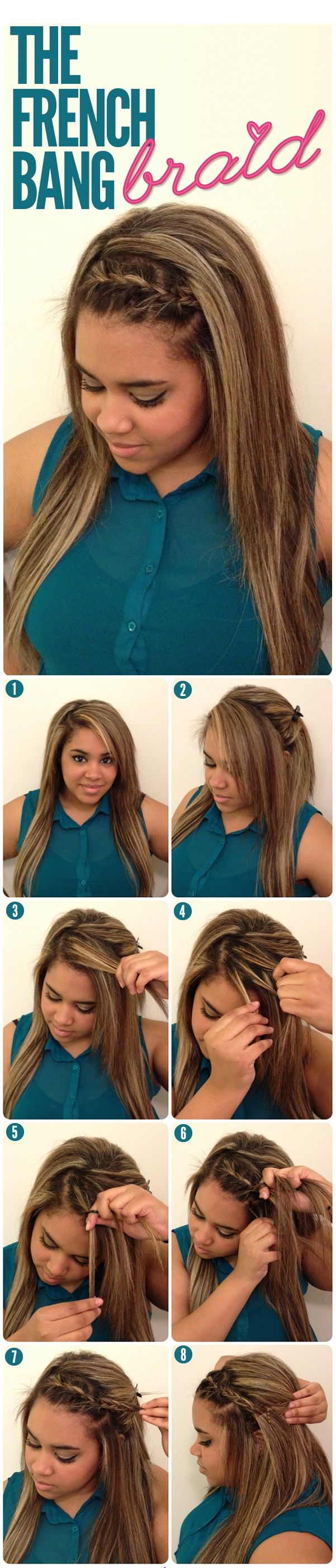 THE FRENCH BANG BRAID-Top 15 Easy-To-Make Braids Tutorials
