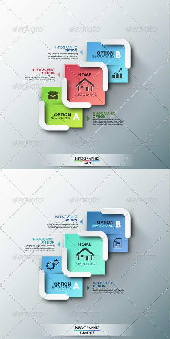 Modern Infographic Options Banner (2 Colors) Template #design Download: http://graphicriver.net/item/modern-infographic-options-banner-2-colors/8688007?ref=ksioks