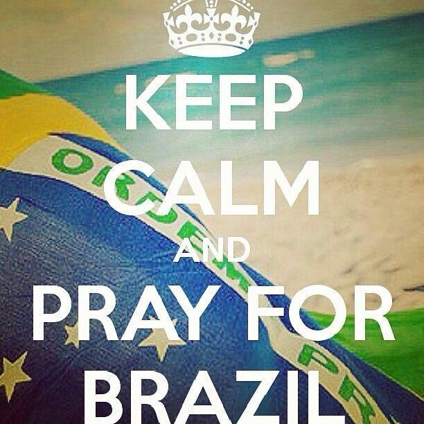 De joelhos por ti Brasil... #Pray For Brazil