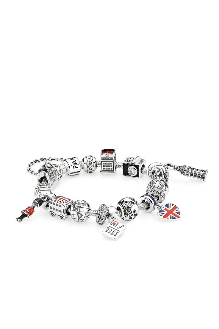 A cute double-decker bus, a telephone booth, a cab, a member of the Queen's Guard and Big Ben - PANDORA's assortment provides plenty of opportunities for commemorating time spent in the United Kingdom. #PANDORAbracelet