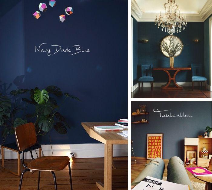 Die Besten 25+ Dunkelblaue Wände Ideen Auf Pinterest | Marine ... Wohnzimmerwand Blau
