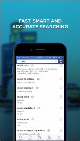 [iOS] Vietnamese Dictionary Pro - Từ Điển Anh Việt ($1.99 to #Free) - Apps Gone Free