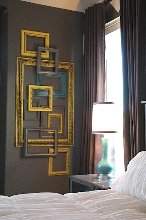 Make wall art out of a bunch of empty frames.