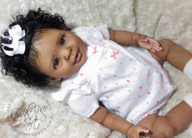 Black reborn doll for adoption